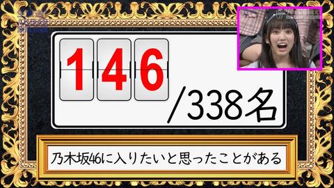 【悲報】乃木坂46に入りたいと思ったことがある48メンバー146人www【生放送!AKB48緊急会議】