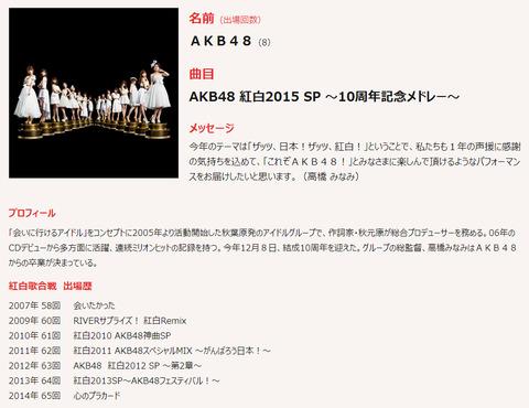 【AKB48】NHK紅白歌合戦の10周年メドレーにOGが来る可能性