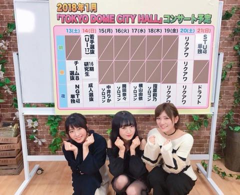 【TDCソロコン】横山由依、岡田奈々、中井りかこの中で定員割れしそうなメンバーっている?