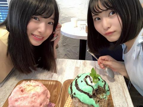 【AKB48】福岡聖菜と久保怜音がかき氷デート【癒し】
