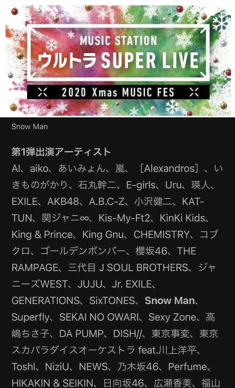 【朗報】「Mステ ウルトラSUPER LIVE」にAKB48出演!!!