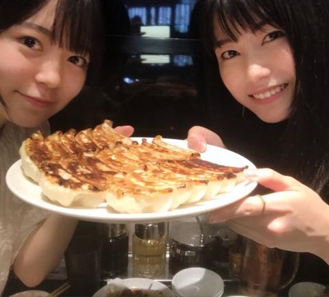 【AKB48】総監督横山由依と西川怜ちゃんが11歳差の餃子ランチ!