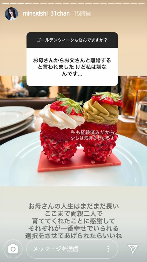 【遅報】AKB48峯岸みなみの両親、離婚していた