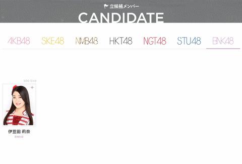 【AKB48総選挙】伊豆田莉奈がBNK48として参加することが決定