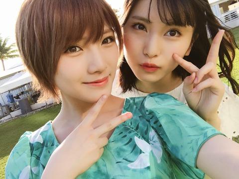 【AKB48】最近のスマホってこんなに綺麗に撮れるんだな【岡田奈々・福岡聖菜】