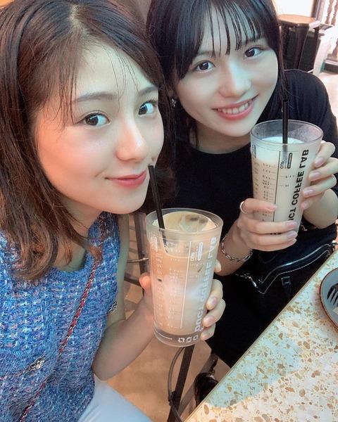 【元SKE48】小畑優奈と後藤楽々が久々に再会