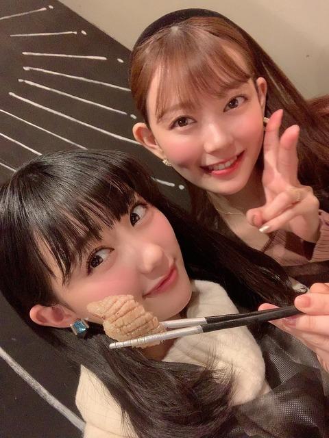 【HKT48】田中美久さんがみるきー(渡辺美優紀)と肉活
