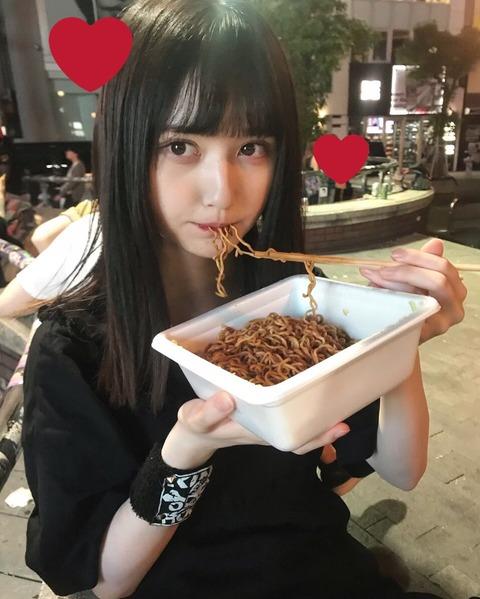 【NMB48】夜更けに公園でUFOを食べるアイドルが出現してしまう・・・【山本望叶・水田詩織】