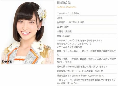 【SKE48】7期研究生の川崎成美が12月いっぱいで卒業