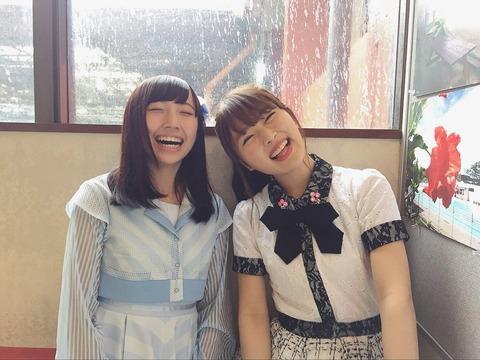【朗報】NMB48渋谷凪咲とSTU48藪下楓がじゃんけん大会でペア結成!【なぎっふぅー】