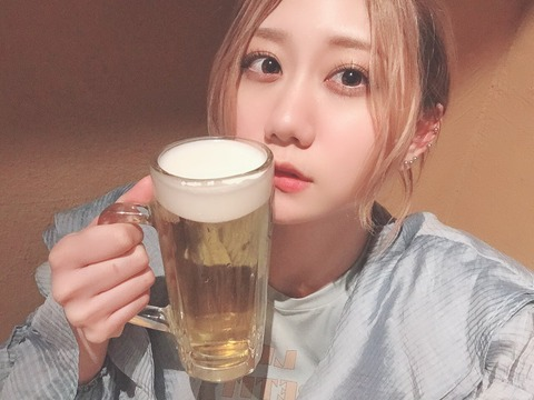 【SKE48】古畑奈和さん、朝から生ビールをキメるwww