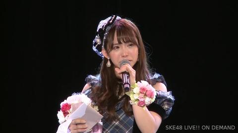 【SKE48】松村香織「48G自体が今は世間的には厳しい目がありますが、SKEは本当にいいグループだなあと思っています」