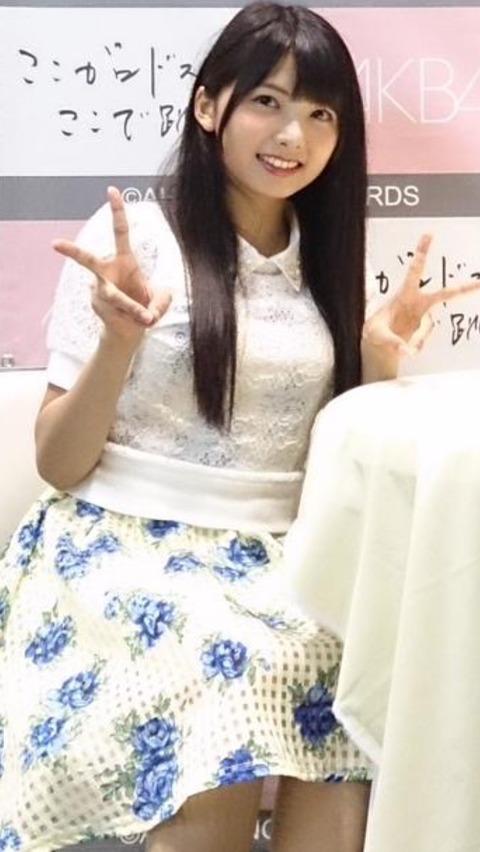 【朗報】HKT48岡田栞奈ちゃんは意外に巨乳な模様