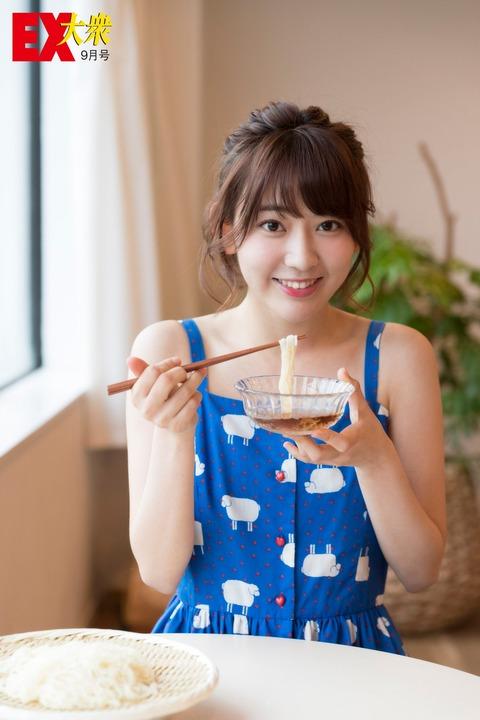 【画像】AKB48Gきっての清純派の宮脇咲良さん、そうめんを食べる!!!