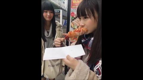 【NMB48】梅山恋和ちゃんのチーズドックの食べ方が可愛いと話題に!