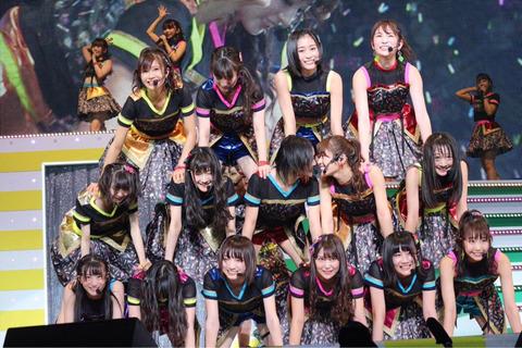 【NMB48】ピラミッドの人員配置おかしいだろwwwwww