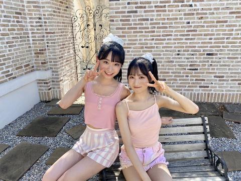 【AKB48】ゆいゆいとずっきーのπ格差【小栗有以・山内瑞葵】