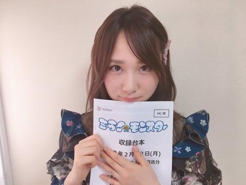 【AKB48】最近のレギュラー仕事の当たりと言えばミラモンの高橋朱里とアッパレの小嶋真子、他には誰がいる?