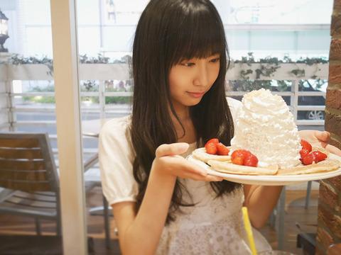 【SKE48】野村実代が食べたパンケーキの生クリームの量がとんでもない件