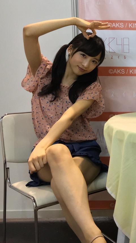 【AKB48】ゅぃゅぃの太ももに挟まれて、あの世に逝きたい!【小栗有以】