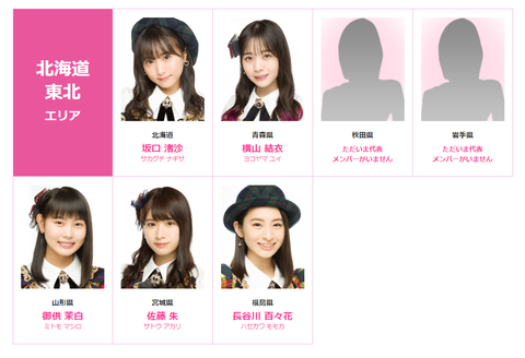 【悲報】AKB48チーム8、東北エリアが完全崩壊wwwwww
