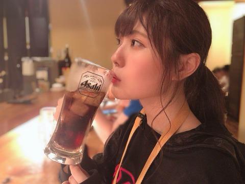 【画像】コーラを飲むSKE48の石原さとみこと谷真理佳さんが可愛すぎる!!!