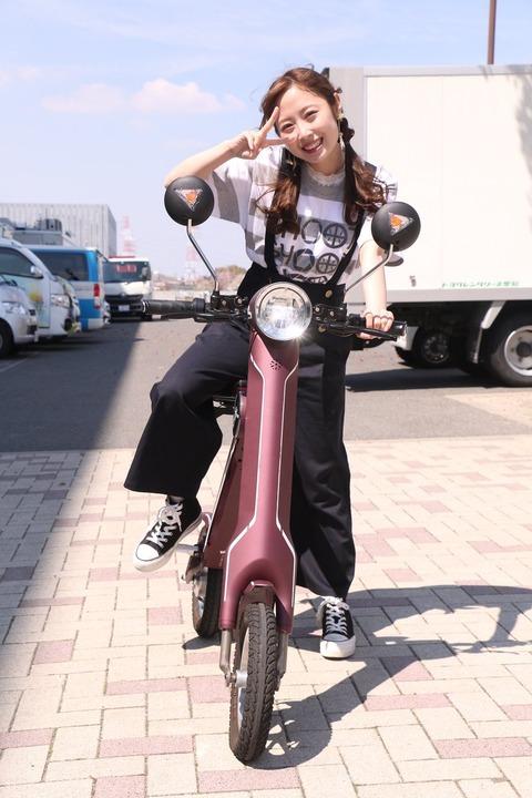 【SKE48】高柳明音さん、無免許ノーヘルでバイクに乗る