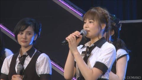 【悲報】HKT48穴井千尋、劇場公演にて卒業発表
