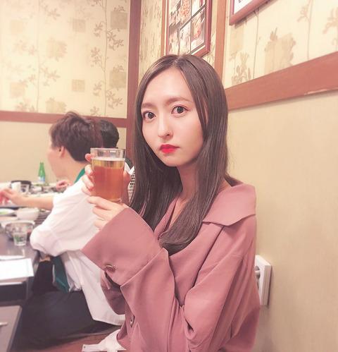 【HKT48】森保まどか「たまにはお酒飲んでる写真を…ビール最高だ」