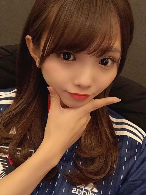 【朗報】NMB48磯佳奈江がJALサッカー日本代表応援CMに出演!