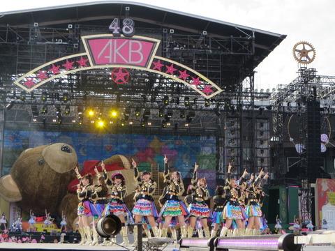 【悲報】AKB48G国立競技場コンサート、悪天候の為中止