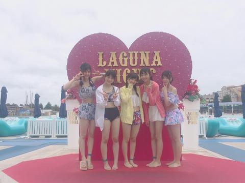 【SKE48】野島樺乃、町音葉、太田彩夏、小畑優奈、水野愛理の5人がプールに行く