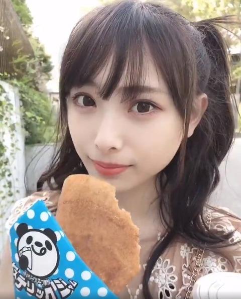 【NMB48】梅山恋和ちゃんがクレープを食べてるだけの動画、永遠に見てられるwww