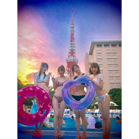 【元AKB48】卒業メン達の水着エロ過ぎるだろwww【松井咲子・田名部生来・仁藤萌乃・片山陽加】