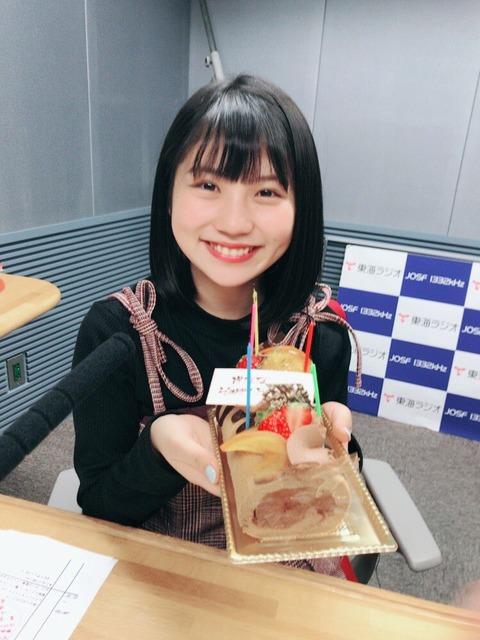 【SKE48】ドジっ子な小畑優奈ちゃん、誕生日ケーキを倒してしまうwww