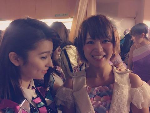 【AKB48】島崎遥香「山内鈴蘭と写真を撮っても笑顔が引き攣る、SKEだから気まずい」