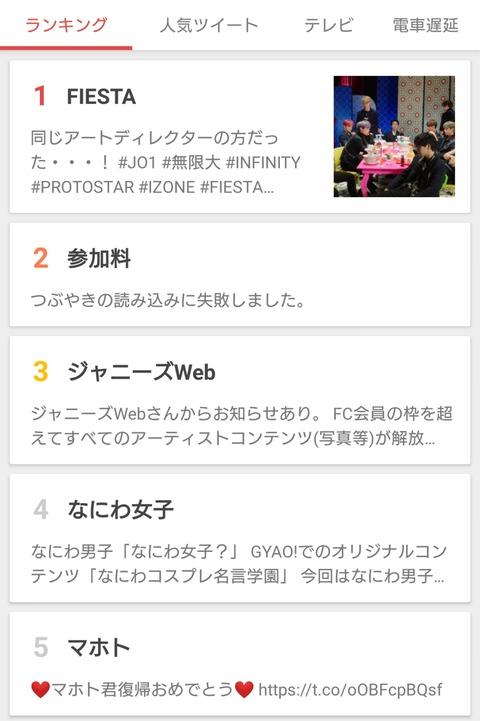 【朗報】IZ*ONEがTwitterワールドトレンド1位!Yahoo!リアルタイム1位!