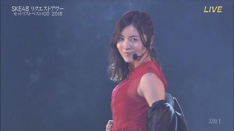 【SKE48】リクエストアワーで松井珠理奈の赤いピンヒールとプロフェッサーが3位