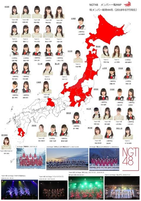 NGT48メンバーが東日本をコンプリートしそうな件