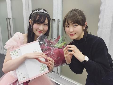 【NMB48】渋谷凪咲「こんなにも純粋で、心が可愛いくて、最高に美しい人はきっと世界中探してもふうこさんだけです」【矢倉楓子】