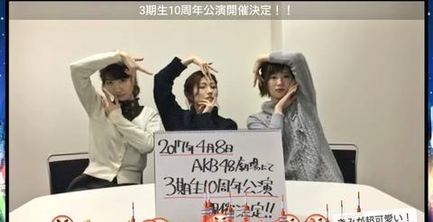 【AKB48】4期生の10周年公演は開催されるのか?