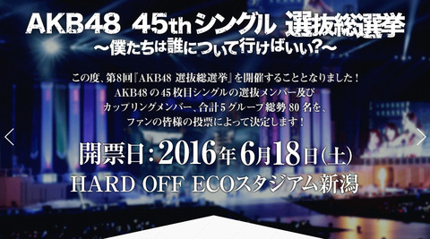 【AKB48総選挙】初ランクイントップ当選メンバー予想スレ