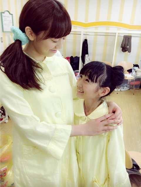 【HKT48】坂口理子と今村麻莉愛が完全に親子【画像】