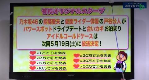 【文春砲】乃木坂46能條愛未が仮面ライダー俳優戸谷公人とお泊り