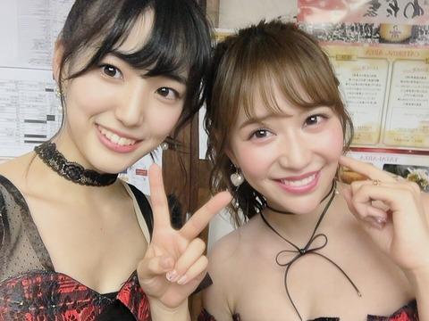 【AKB48】下尾みうが大先輩の板野友美と河西智美との2ショットに成功!