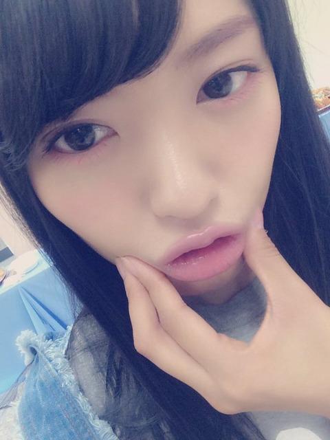 【画像】みーおんが唇で誘ってる!!!【AKB48・向井地美音】