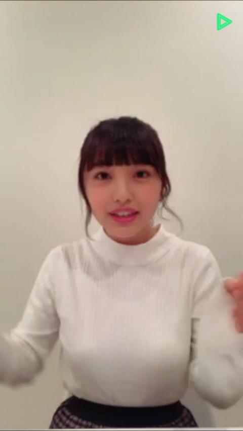 【悲報】みーおんのお●ぱいが垂れてる・・・【AKB48・向井地美音】