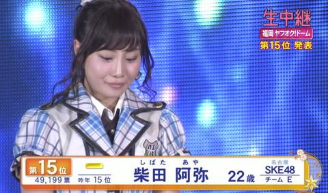 【SKE48】柴田阿弥の総選挙辞退は票数や順位を考えるともったいないよな