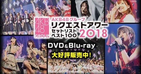【AKB48G】ついにリクエストアワー2018の円盤が発売したわけだが