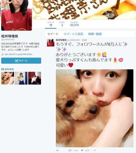 【悲報】SKE48松井珠理奈、実人気は川栄李奈の約半分と判明 【Twitterフォロワー数】